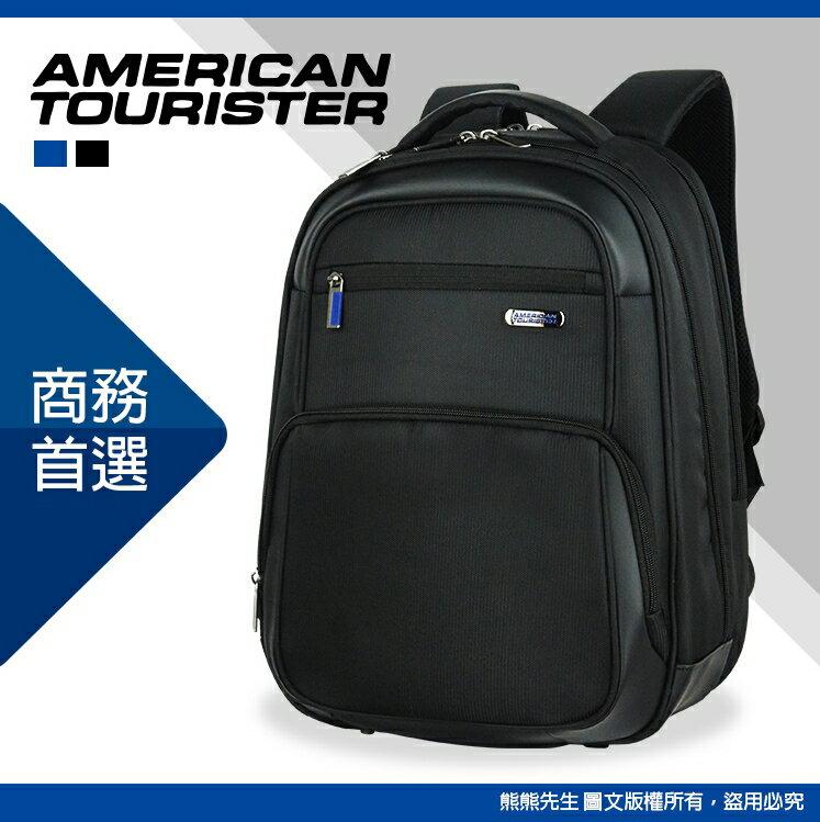 《熊熊先生》新秀麗Samsonite美國旅行者AT 大容量 大開口後背包 ESSEX系列 15.6吋筆電包 休閒電腦包 防潑水雙肩包 AS4 附原廠防雨套