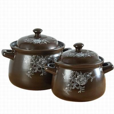 【約3.5L米線砂鍋-直徑20*高21.5cm-1款/組】明火耐高溫養生煲湯粥陶瓷燉鍋一鍋多用-8001020