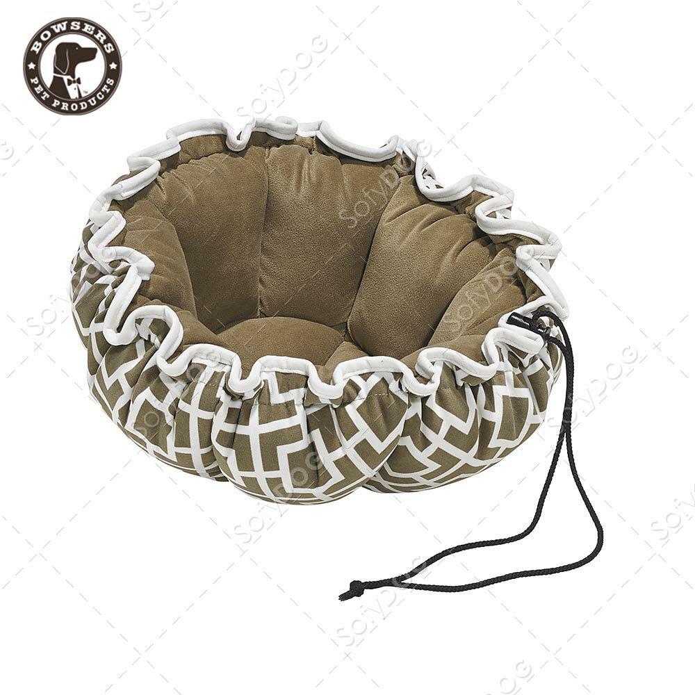 BOWSERS杯型極適寵物床-極簡方格(棕)-S