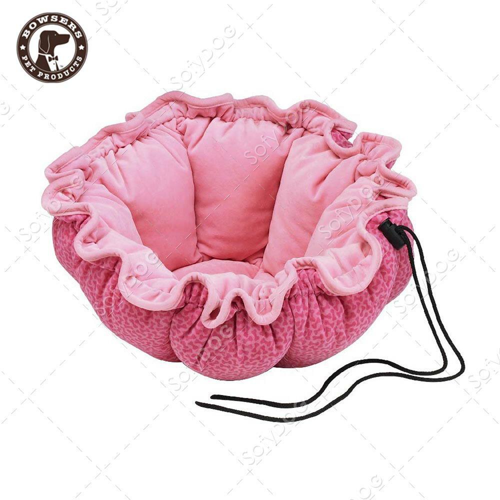 BOWSERS杯型極適寵物床-粉紅小骨頭-L