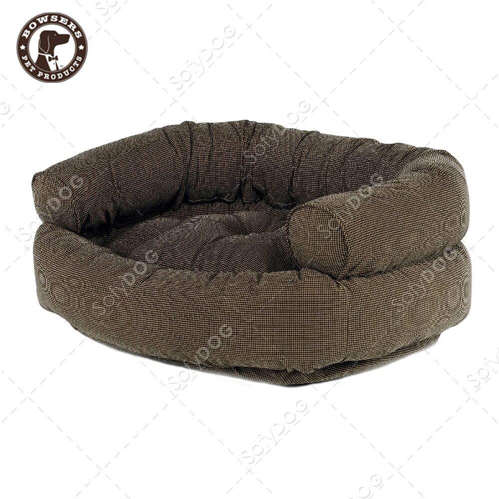 BOWSERS雙層極適寵物沙發床-咖啡小千鳥紋-M