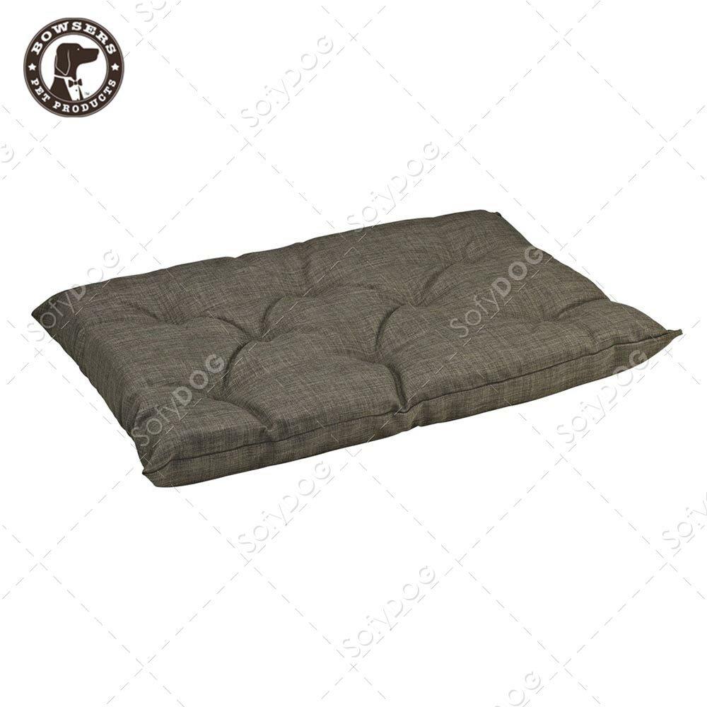 BOWSERS加厚極適寵物睡墊-十字織紋(棕)-S