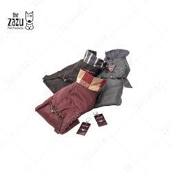 The Zazu都會格紋立領風衣-S-三色可選(酒紅/深灰/黑)