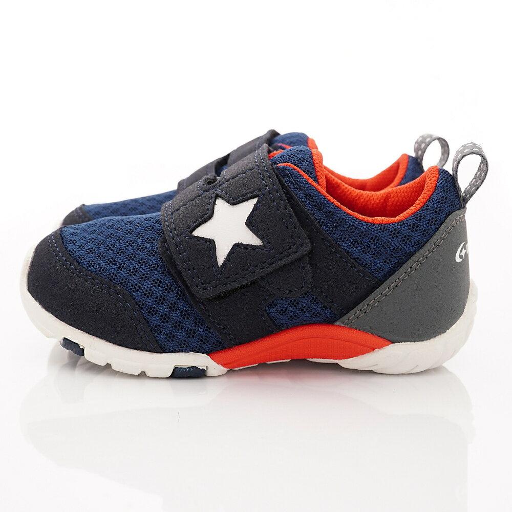 日本月星頂級童鞋 四大機能抗菌運動鞋款-MSC216635深藍(中小童段) 3