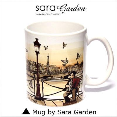 (24H) 客製 質感 彩繪 馬克杯 Mug 威尼斯 湖畔 夕陽 咖啡杯 陶瓷杯 杯子 Sara Garden 品牌手作【M0320013】