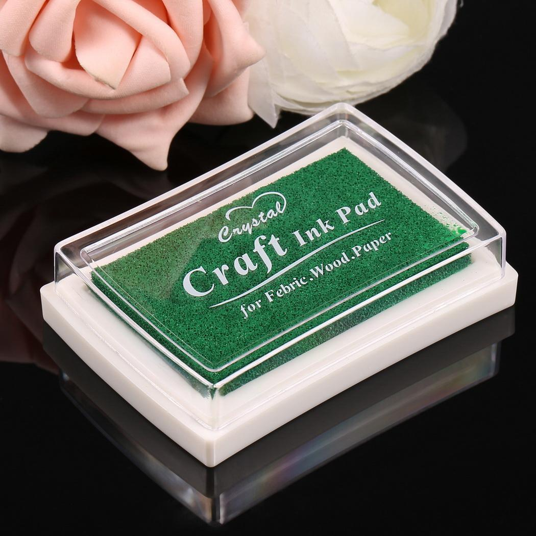 Sponge Square Stamps Craft Ink Pad for Paper Wood 15 Colors 4