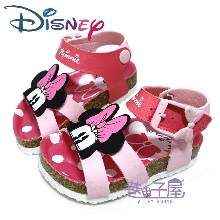 迪士尼DISNEY 童款米妮氣墊勃肯涼鞋 [119393] 粉 MIT台灣製造【巷子屋】