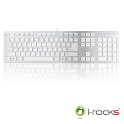 i-rocks 艾瑞克【K01】巧克力超薄鏡面鍵盤 巧克力剪刀腳按鍵 打字聲音安靜 與筆電鍵盤相同結構、手感 全中英文系列 IRK01【迪特軍】
