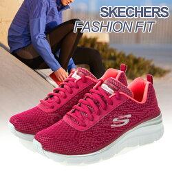 SKECHERS FASHION FIT 女款訓練鞋 運動鞋 輕量透氣 休閒鞋 健身/韻律 增高鞋 懶人鞋 健走鞋 D1@(12719RAS)Luckyshop