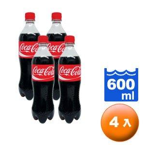 可口可樂 600ml (4入)/組
