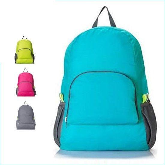 ?MY COLOR?韓版旅行可折疊雙肩包 多功能 雙肩背包 收納包 旅行包 輕薄款型 後背包【Y21】