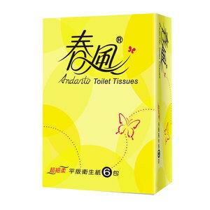 春風 平版衛生紙 300張 (6包)/串