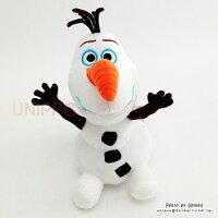 【UNIPRO】迪士尼 冰雪奇緣 FROZEN 雪寶 Olaf 閉嘴 坐姿 吊飾 絨毛玩偶 娃娃 正版授權 雪人