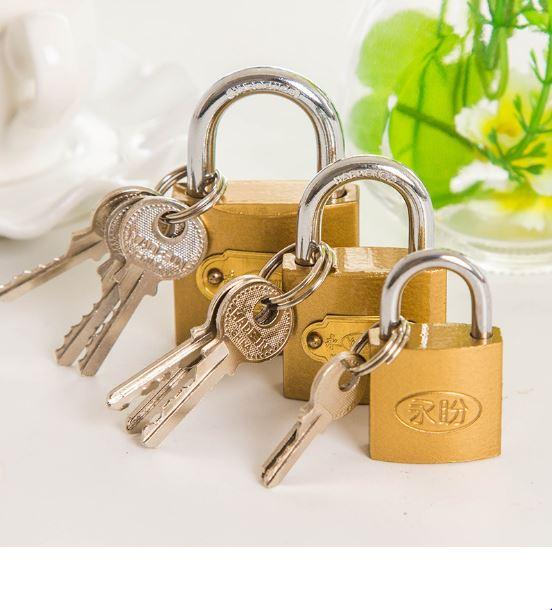 【省錢博士】優質掛鎖小掛鎖 / 小銅鎖鎖頭 / 互開掛鎖機箱鎖