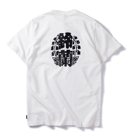 FINDSENSEMD韓國時尚休閒潮男鈴蘭字印花個性T恤短袖T恤特色短T字母T