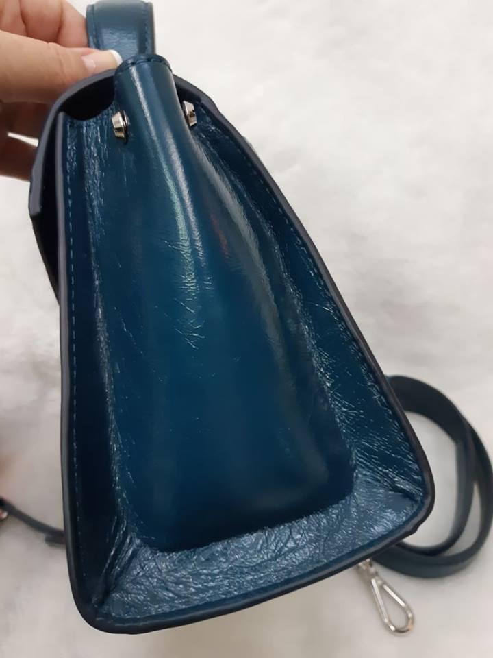 MK (專櫃款)羊皮土耳其藍蝴蝶-手提 /  肩 /  斜背包 1