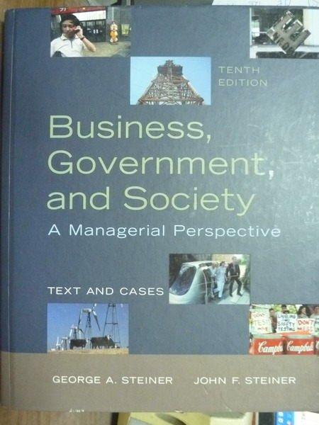 【書寶二手書T5/大學商學_QNY】Business, Government and…_10/e