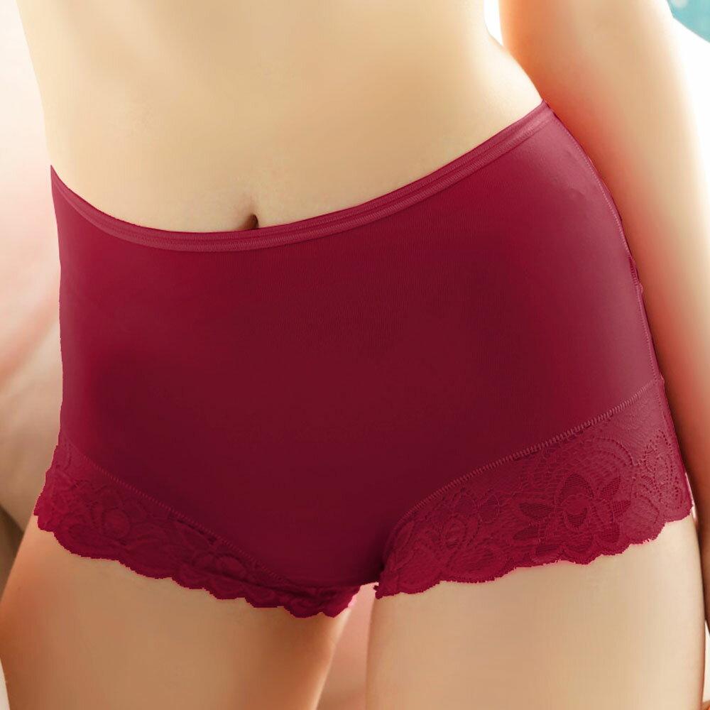 【AJM】MIT輕柔舒適竹炭中腰平口褲(棗紅) 0