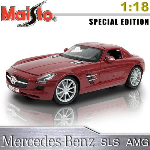 【Maisto】Mercedes-Benz SLS AMG《1/18 》合金模型車 -紅色