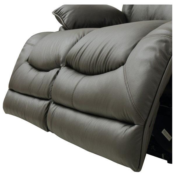 ◎(OUTLET)半皮2人用電動可躺式沙發 HIT DBR 福利品 NITORI宜得利家居 8