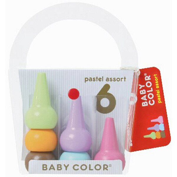 日本製 Baby Color 幼兒無毒蠟筆 6色 A款*夏日微風*