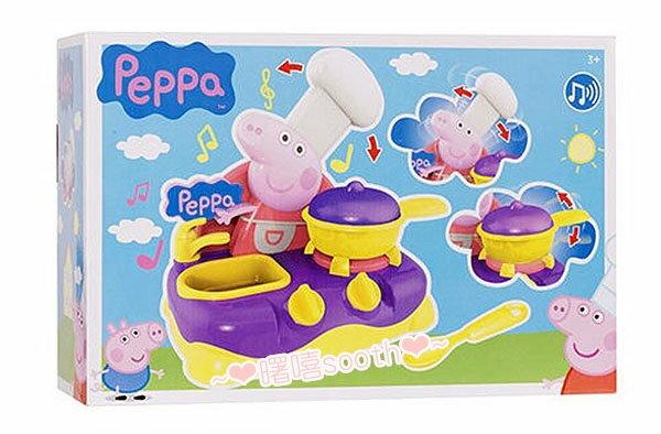 【曙嘻sooth-台灣公司貨】peppa pig粉紅豬小妹音效瓦斯爐組