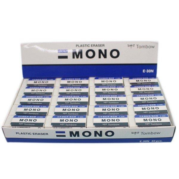 TOMBOW 蜻蜓牌橡皮擦 E-30N (小) / 一個入(定15) MONO橡皮擦 塑膠擦 日本原裝 0