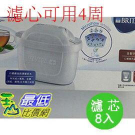 【BRITA公司貨4周用濾心】BRITAMAXTRAPLUS濾芯8入(和原來Maxtra濾心相容)