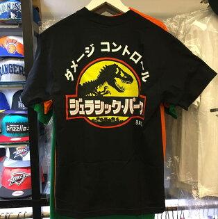 BEETLE PLUS:BEETLEBAITXJURASSICPARKTEE聯名侏儸紀公園恐龍日文黑色黑黃SMLXL