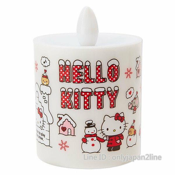 【真愛日本】16112500001蠟燭室內燈-KT與雪人   三麗鷗 Hello Kitty 凱蒂貓  夜燈  小燈 照明
