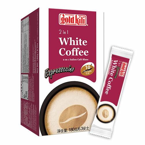 金麒麟意式特濃奇諾白咖啡10包/盒裝