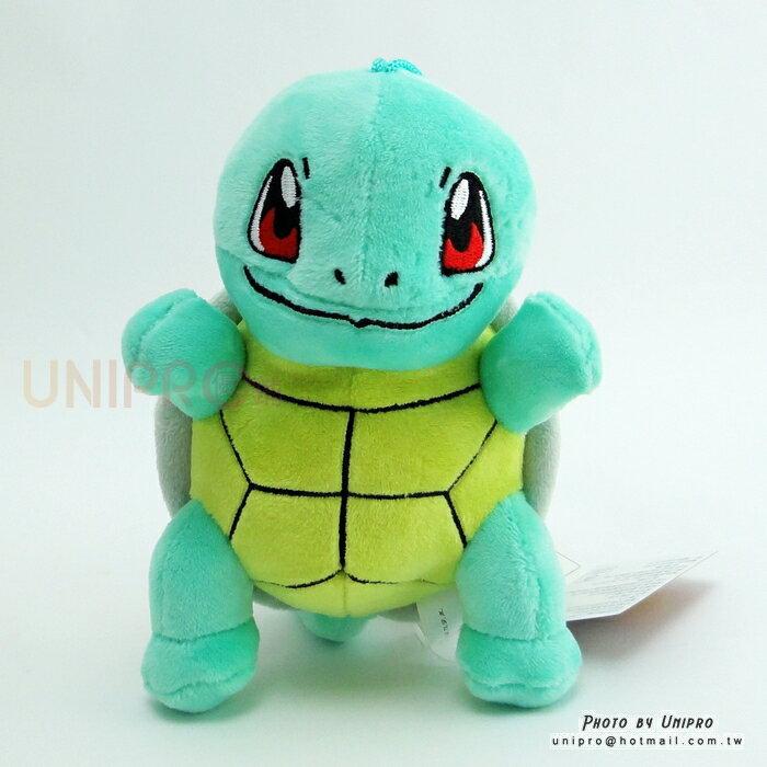 【UNIPRO】神奇寶貝 XY 傑尼龜 Squirtle 14公分 絨毛娃娃 玩偶 吸盤吊飾 禮物 正版授權 寶可夢 Pokemon Go 御三家