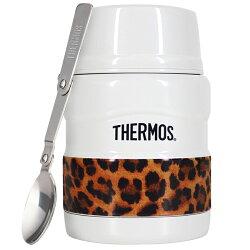 THERMOS膳魔師 不鏽鋼真空食物燜燒罐食物罐470ml-經典白豹【SK3000LWH】