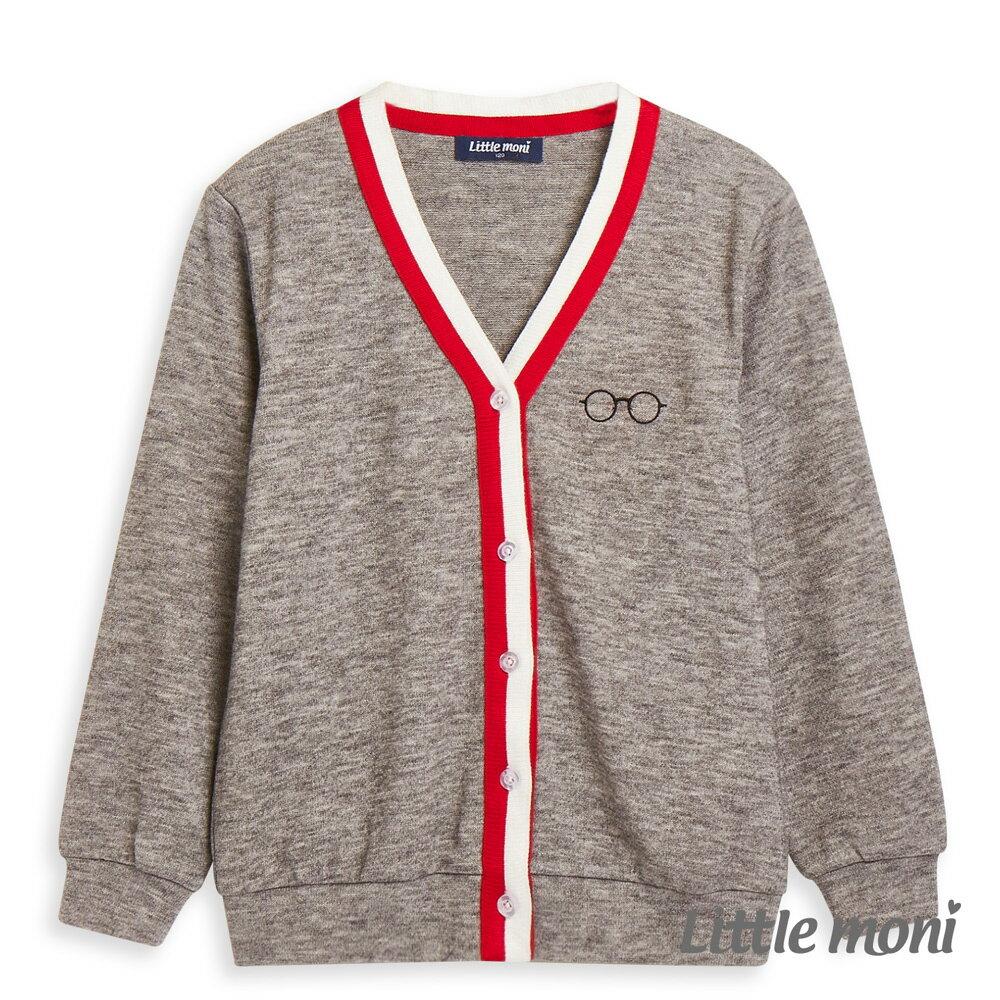 Little moni 學院風針織外套-麻花灰(好窩生活節) 1