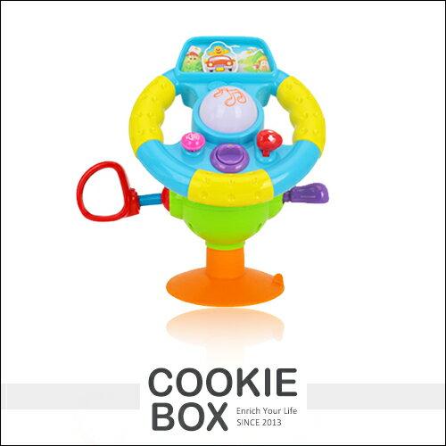 匯樂916快樂迷你仿真方向盤寶寶學模擬駕駛兒童益智啟蒙音樂玩具排檔喇叭吸盤*餅乾盒子*