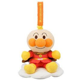 日本正版進口_阿卡醬AKACHAN_麵包超人 嬰兒床音樂吊飾 (類毛巾布不易過敏)