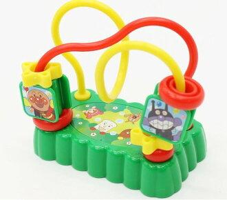 日本正版進口 AKACHAN 麵包超人 幼兒學齡玩具 旋轉環 手指訓練玩具