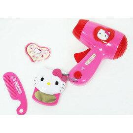 日本正版進口玩具 Hello Kitty 凱蒂貓 小小音樂聲光吹風機 (附小扁梳/小鏡子/貼紙)會唱歌/吹風機內有齒輪按壓會有風喔~