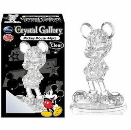日潮夯店 日本正版Disney迪士尼 米奇3D Puzzle 全身 立體拼圖 透明水晶 44塊 組合拼裝