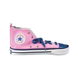 CONVERSE(ALL STAR)正版授權帆布鞋造型筆袋_粉紅+藍撞色系列_H138-09