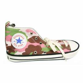 CONVERSE(ALL STAR)正版授權帆布鞋造型筆袋_繽紛迷彩色系_H138-05