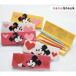 日潮夯店 日本正版 Disney 迪士尼 米奇 米妮nano block 小樂高 LEGO 筆盒 鉛筆盒 筆袋 4色