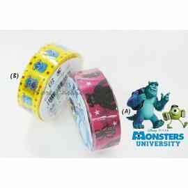 日本正版進口 日本製 怪獸大學monsters university 大眼仔/毛怪 日本和紙紙膠帶(共兩款)