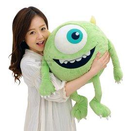 日潮夯店 日本正版 MU 怪獸大學 電力公司  大眼仔 MIKE 麥克華斯基 全長64cm 超大玩偶 絨毛 娃娃 玩具