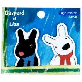 日本正版進口_日本製Gaspard et Lisa 卡斯柏與麗莎 (黑白狗) 造型便利貼_下雨天款