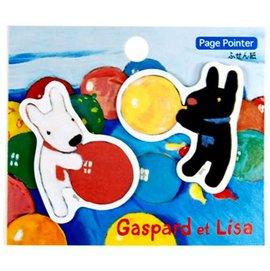 日本正版進口_日本製Gaspard et Lisa 卡斯柏與麗莎 (黑白狗) 造型便利貼_吹氣球款