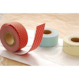 日潮夯店_   製^~SEASON 和紙 水糊紙膠帶 水玉點點^(紅 藍^)