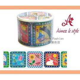 日潮夯店 日本正版 Aimez le style 3.8cm 粗 紙膠帶 Calendar 彩色日曆 款