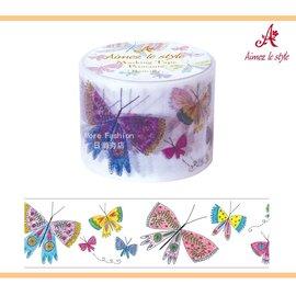 日潮夯店 日本正版 Aimez le style 3.8cm 粗 紙膠帶 Butterfly 春季彩蝶 款
