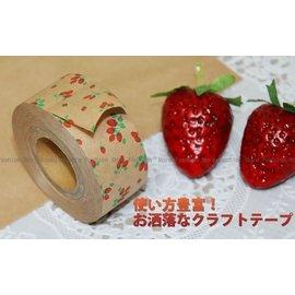 日潮夯店_日本正版進口 日本製*SEASON 和紙 水糊紙膠帶 _田野鄉村草莓款